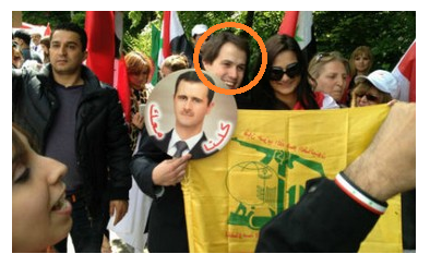 Laurent Louis with Hizb flag