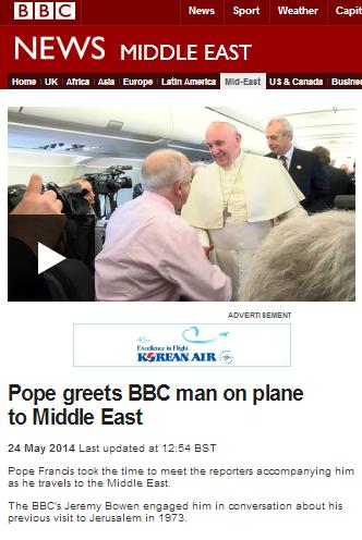 Pope plane Bowen filmed