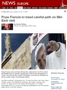 BBC's Vatican correspondent amplifies stock faux narrative on Palestinian Christians