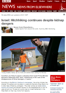 BBC Monitoring hitchhiking