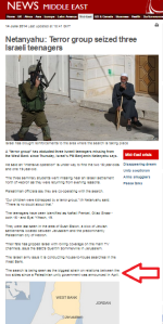 Don't mention the baklava: BBC reports on kidnapping of Israeli teens