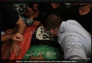 Hamas & Salafist flags funeral