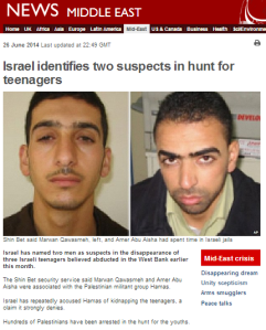 BBC News report on kidnapping suspects downplays Hamas connections