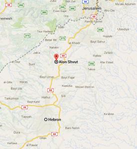 map Alon Shvut