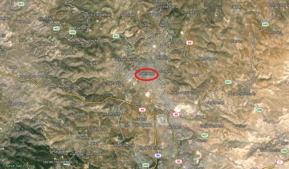 Map Ramallah