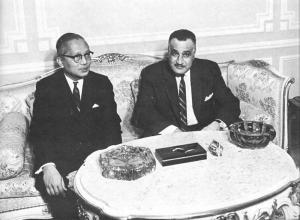 U Thant and Nasser, May 1967