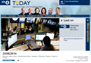 BBC Radio 4's 'Today' programme continues template coverage of teens' abduction