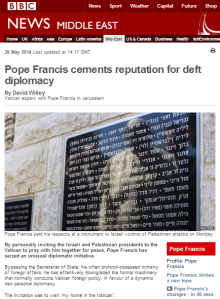 BBC's 'Vatican expert' misleads on Pope's speech at Yad Vashem