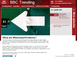 Only one kind of incitement worth mentioning for BBC Trending