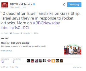 BBC World Service promotes inaccurate information on Twitter