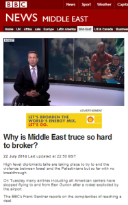 What word is missing from BBC reporting on Gaza?