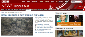 BBC News describing Hamas command & control centres as 'houses'
