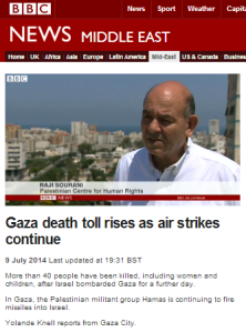 Third example of BBC promotion of the lie that Israel deliberately targets civilians