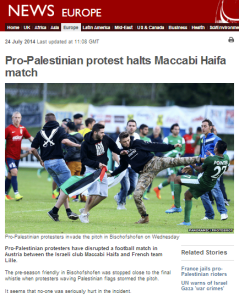 BBC News website whitewashes attack on Israeli footballers