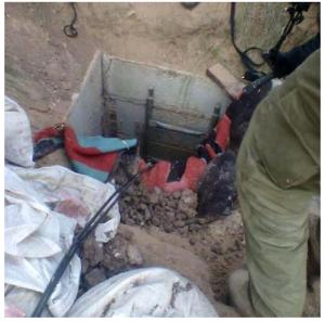 Tunnel discovered in Gaza Strip 19/7/14. Photo: IDF