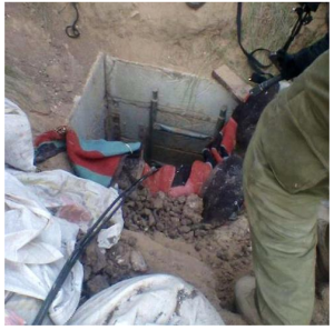Tunnel discovered in Gaza Strip 19/7/14. Photo: IDF