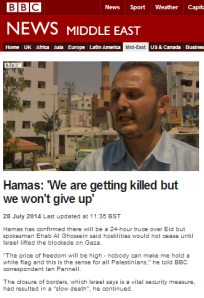 BBC's Ian Pannell does a convincing impression of Al Aqsa TV