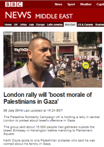 Unhindered promotion of PSC speaker's propaganda by BBC News