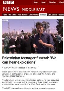 BBC's James Reynolds reports from Jerusalem