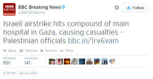 Revisiting BBC reporting of civilian deaths in Gaza on July 28th 2014