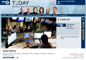BBC's Bowen builds framing on Radio 4's 'Today' programme