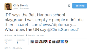 Tweet Chris Morris Beit Hanoun