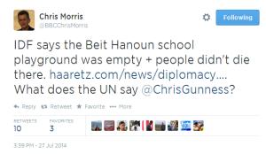 Tweet Chris Morris Beit Hanoun