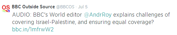 Tweet Outside Source Andy Roy