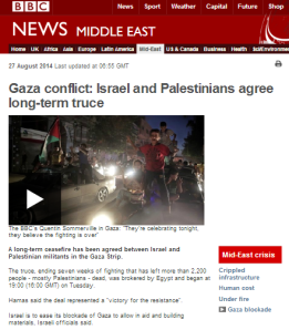 BBC presentation of truce fails to tell the real story