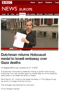 A BBC story from August 2014 still in need of clarification