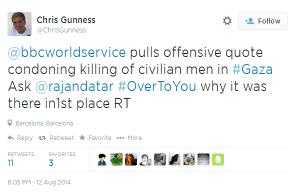 Gunness tweet 6 05