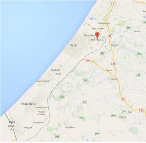 map Beit Hanoun