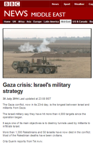 BBC News' televised coverage of missiles attacks on Israel July 30 – August 3