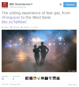 Tweet BBC WS Ferguson