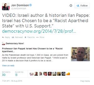 Tweet Donnison Pappe