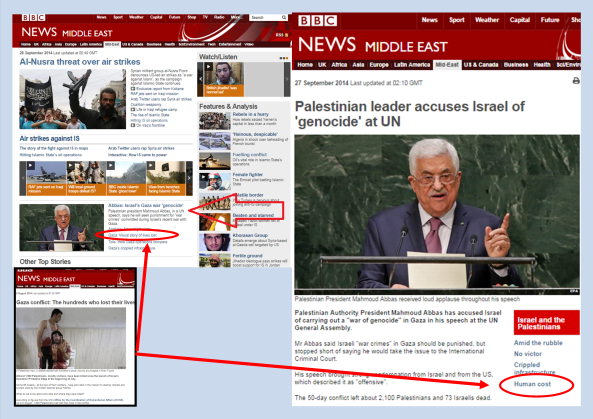 BBC News website continues to promote inaccurate feature on casualties
