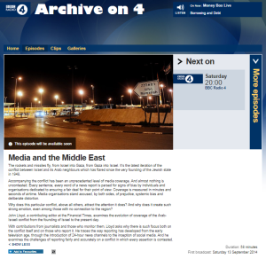 A wasted opportunity: BBC R4's 'Media and the Middle East'