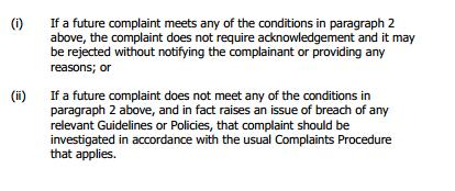 Expedited Complaints Procedure 2