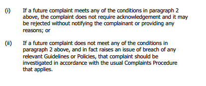 Expedited Complaints Procedure 2