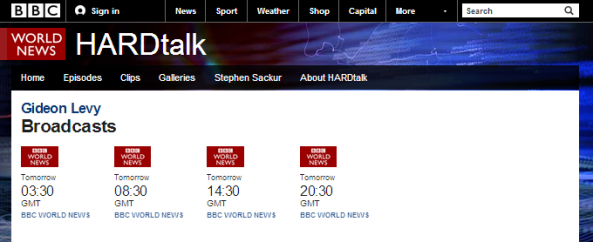 One to watch: BBC's 'Hardtalk' hosts Gideon Levy
