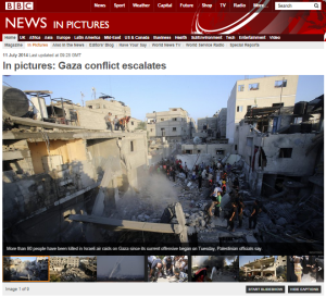The BBC's pictorial portrayal of conflict in Israel and the Gaza Strip