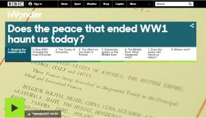 iWonder WW1 feature