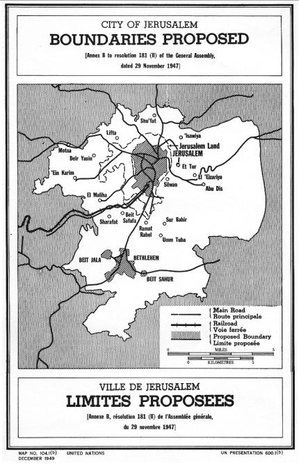 Map UN Jerusalem 1947