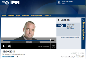 Yolande Knell's Gaza borders campaign continues on BBC Radio 4's PM