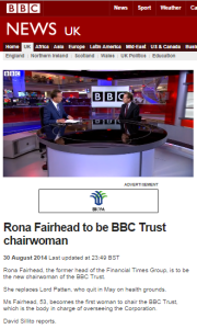 Interesting insight into how the job of Trust chair is seen by BBC staff