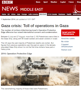 BBC promotion of the inaccurate notion of exceptional civilian casualties in Gaza