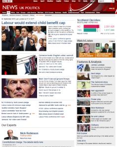 Website UK politics