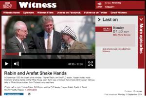 BBC WS 'Witness' erases Arafat's terrorism