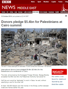 Some context to the BBC's 'reporter in the Gaza rubble' features