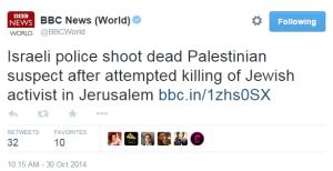Glick BBC tweet